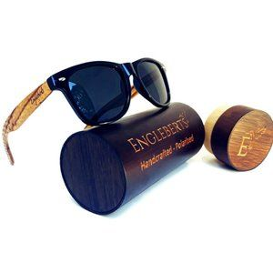 Zebrawood Sunglasses, Stars and Bars With Case